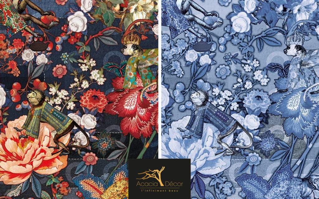 acacia decor arte moooi wallcovering tokyo blue